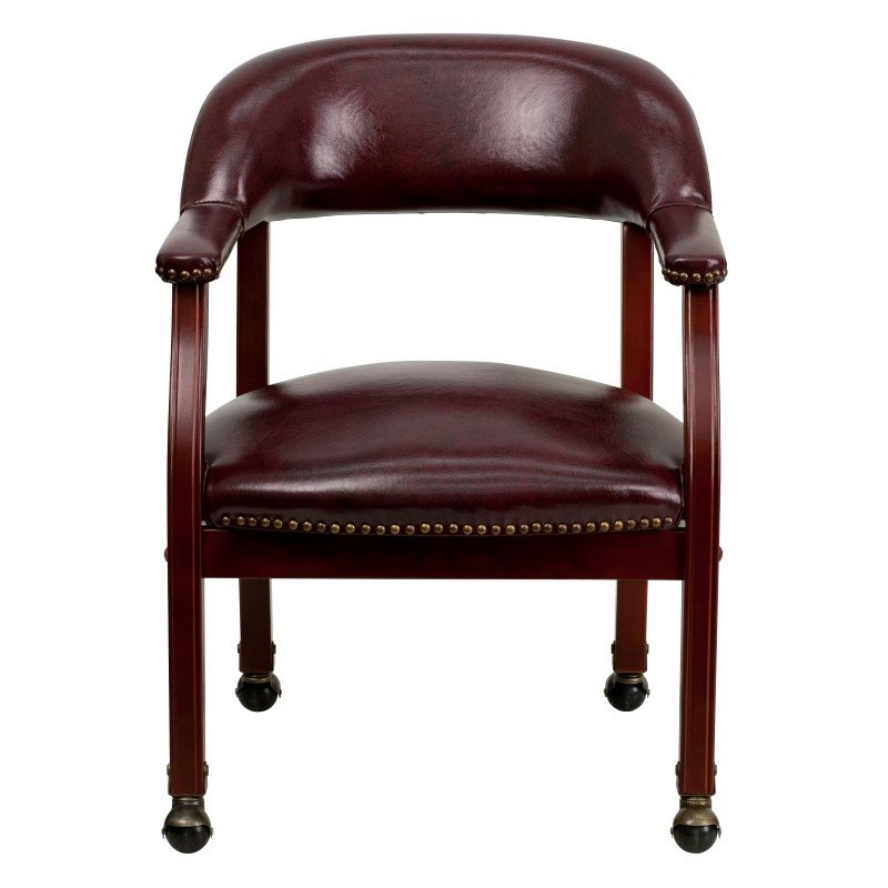 Flash Furniture Oxblood Vinyl Luxurious Conference Chair with Casters