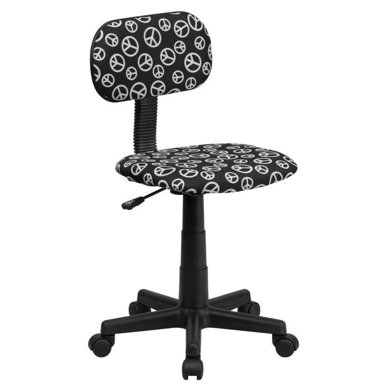Flash Furniture Peace Sign Printed Swivel Task Chair