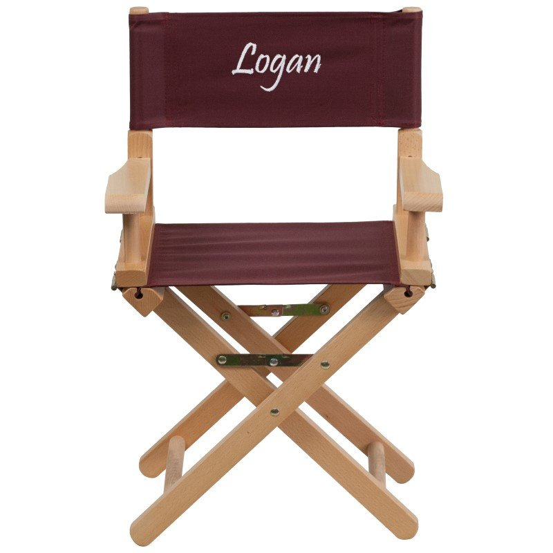 Flash Furniture Personalized Kid Size Directors Chair in Brown