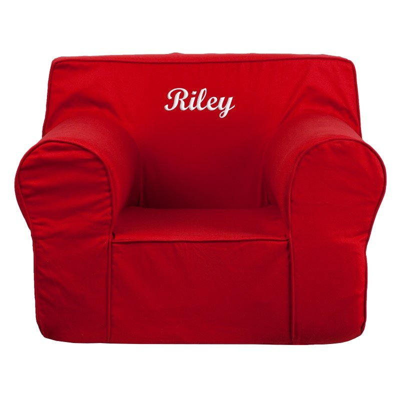 Flash Furniture Personalized Oversized Solid Red Kids Chair