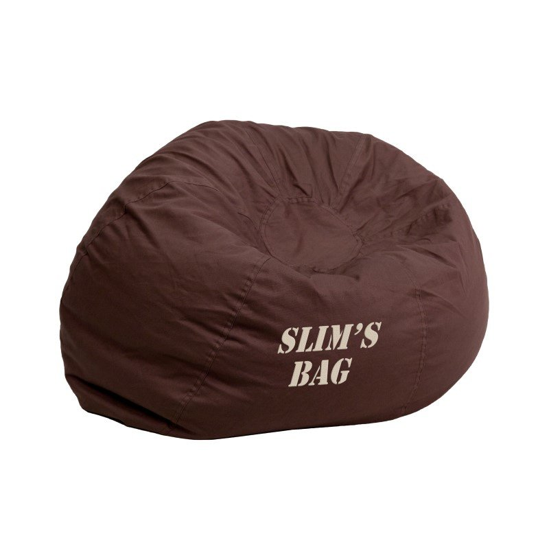 Flash Furniture Personalize Small Solid Brown Kids Bean Bag Chair