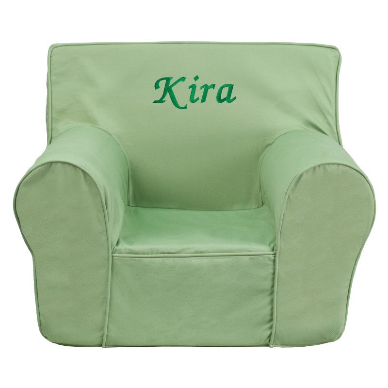 Flash Furniture Personalized Small Solid Green Kids Chair
