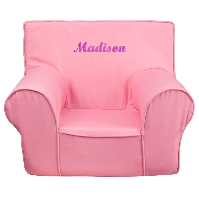 Flash Furniture Personalize Small Solid Light Pink Kids Chair