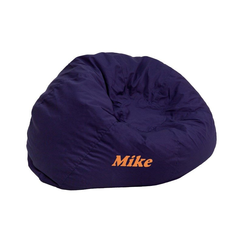 Flash Furniture Personalized Small Solid Navy Blue Kids Bean Bag Chair