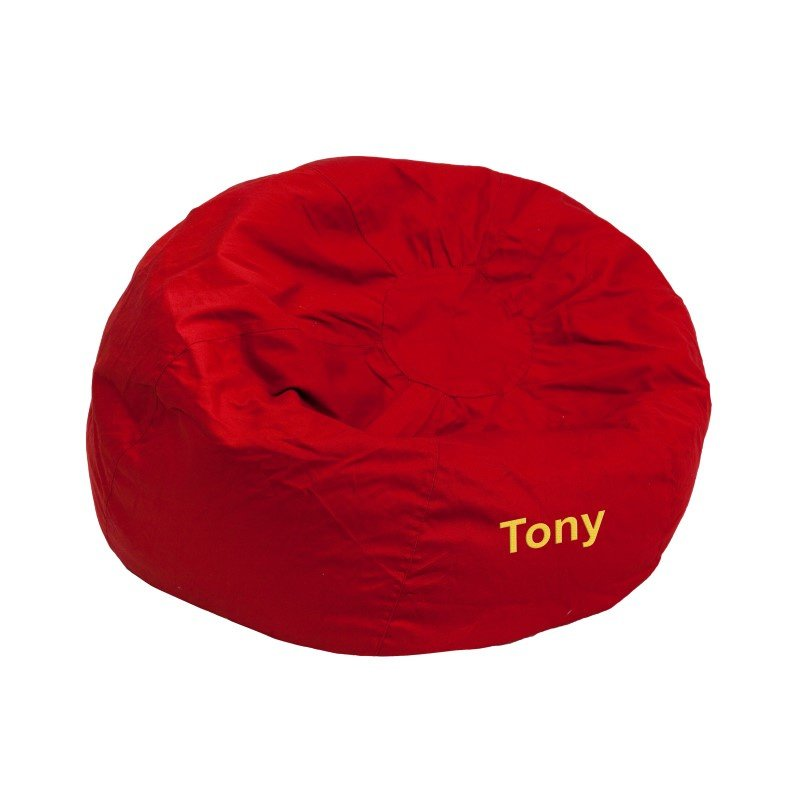 Flash Furniture Personalized Small Solid Red Kids Bean Bag Chair