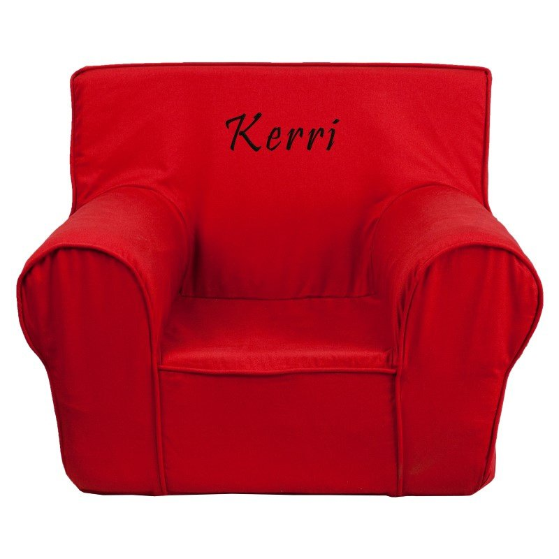 Flash Furniture Personalize Small Solid Red Kids Chair