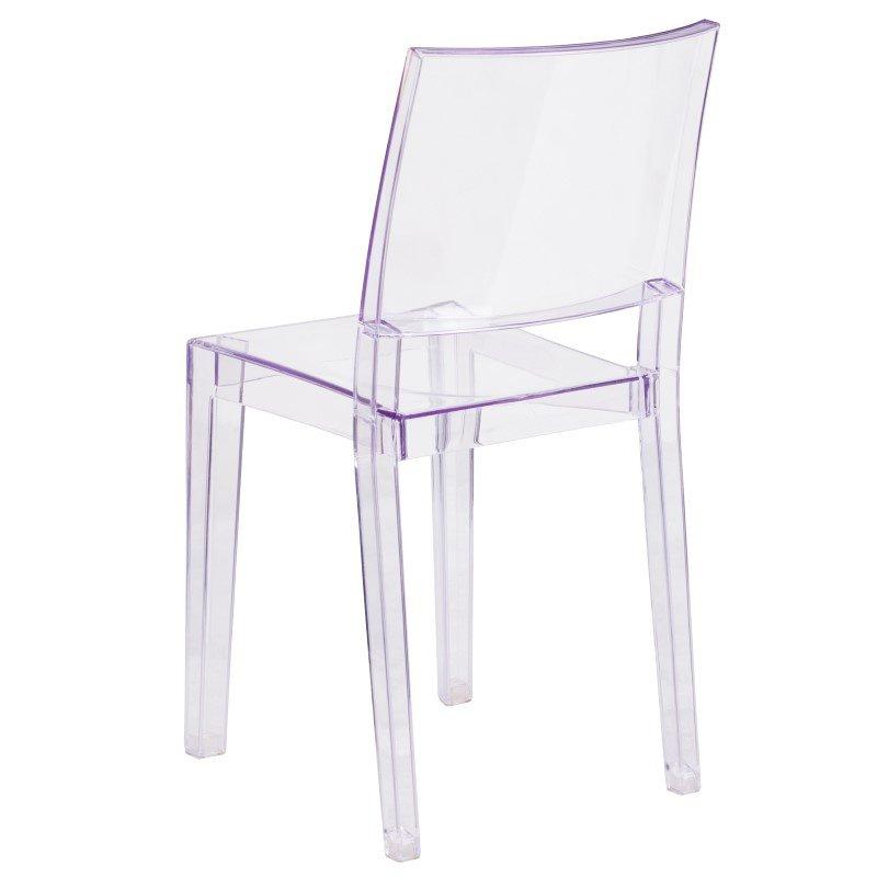 Flash Furniture Phantom Series Transparent Stacking Side Chair