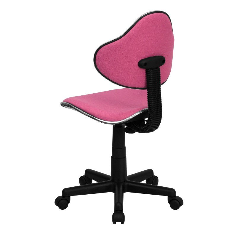 Flash Furniture Pink Fabric Ergonomic Swivel Task Chair