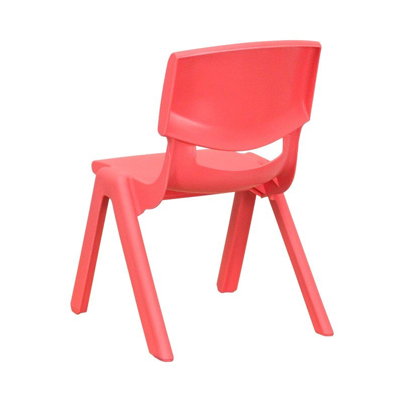 Flash Furniture Red Plastic Stackable School Chair with 10.5'' Seat Height