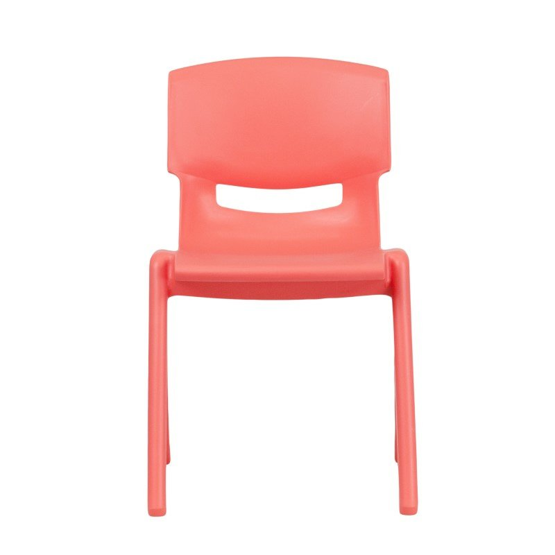 Flash Furniture Red Plastic Stackable School Chair with 13.25'' Seat Height