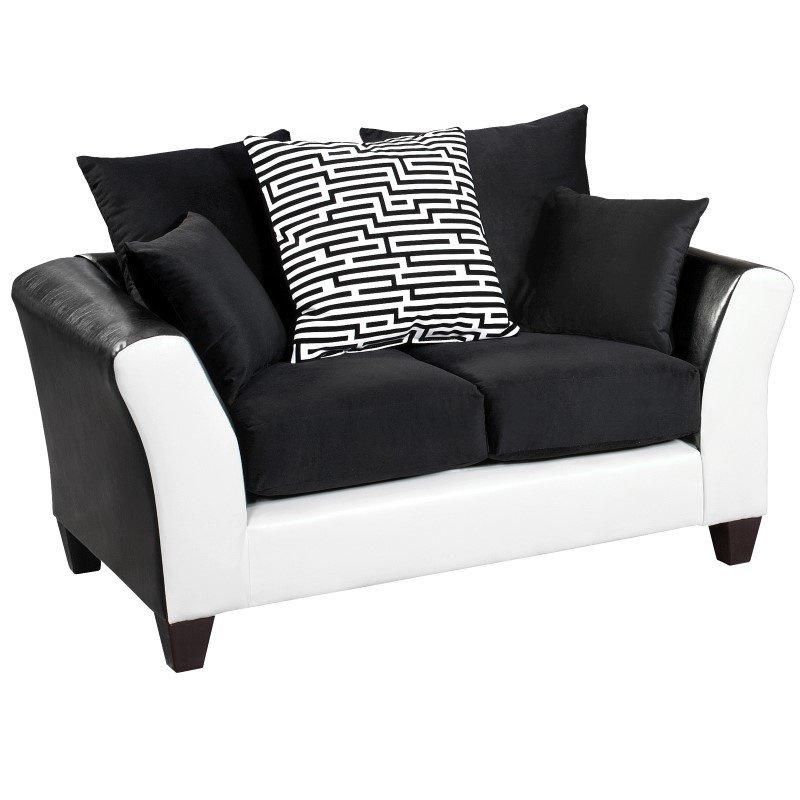Flash Furniture Riverstone Implosion Black Velvet Loveseat
