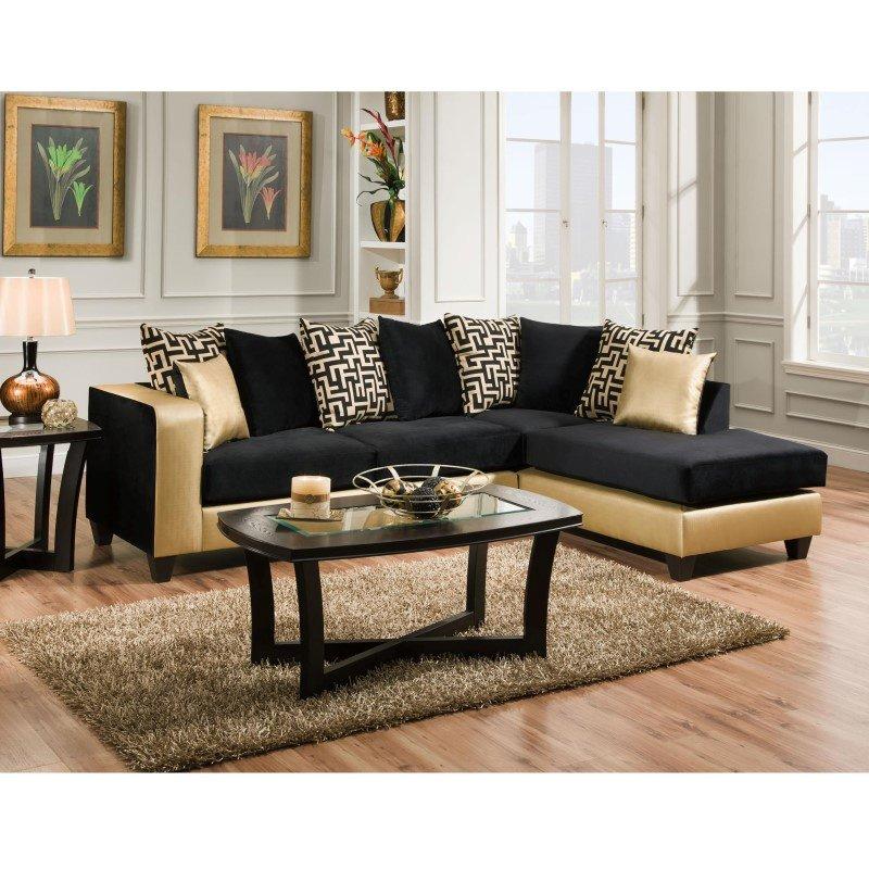 Flash Furniture Riverstone Implosion Black' Velvet Sectional