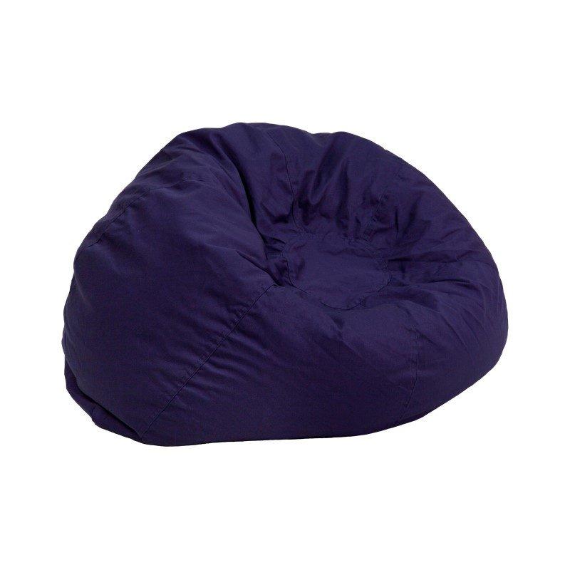 Flash Furniture Small Solid Navy Blue Kids Bean Bag Chair