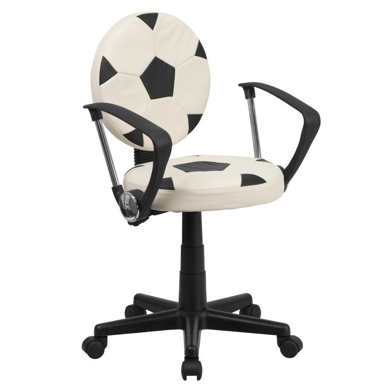 Flash Furniture Soccer Task Chair with Arms
