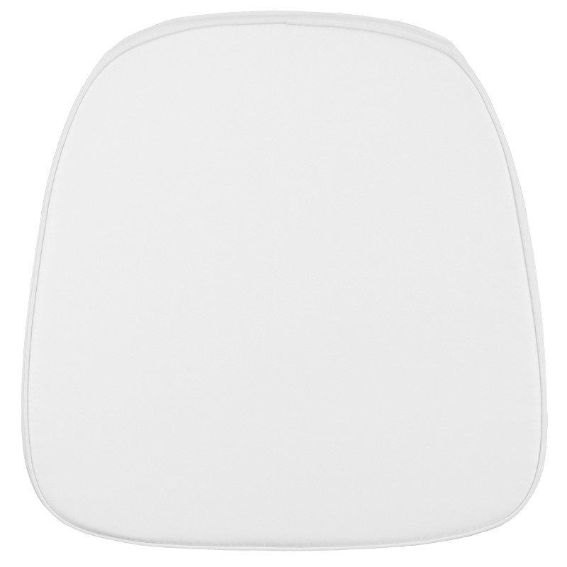 Flash Furniture Soft Snow White Fabric Chiavari Chair Cushion