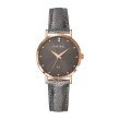 GO Girl Only Candide Quartz Ladies Watch in Coffee Dial and Rose Gold Case with Dark Gray Leather Band (699072)