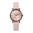 GO Girl Only Candide Quartz Ladies Watch in Coral Dial and Black Case with Pink Leather Band (699078)
