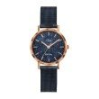 GO Girl Only Candide Quartz Ladies Watch in Sparkling Dark Blue Dial and Rose Gold Case with Dark Blue Steel Mesh Band (695948)