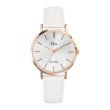 GO Girl Only Candide Quartz Ladies Watch in White Dial and Rose Gold Case with White Leather Band (698943)