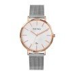 GO Girl Only Candide Quartz Ladies Watch in White Dial and Rose Gold Case with Silver Steel Mesh Band (695994)