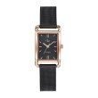 GO Girl Only Elegante Quartz Ladies Watch in Black Dial and Rose Gold Case with Black Steel Mesh Band (695167)