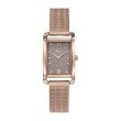 GO Girl Only Elegante Quartz Ladies Watch in Tan Dial and Rose Gold Case with Rose Gold Steel Mesh Band (695165)