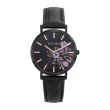 GO Girl Only Florale Quartz Ladies Watch in Floral Black Dial and Black Case with Black Leather Band (699008)