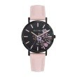 GO Girl Only Florale Quartz Ladies Watch in Floral Black Dial and Black Case with Pink Leather Band (699009)