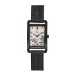 GO Girl Only Florale Quartz Ladies Watch in Floral Cream Dial and Black Case with Black Steel Mesh Band (695168)
