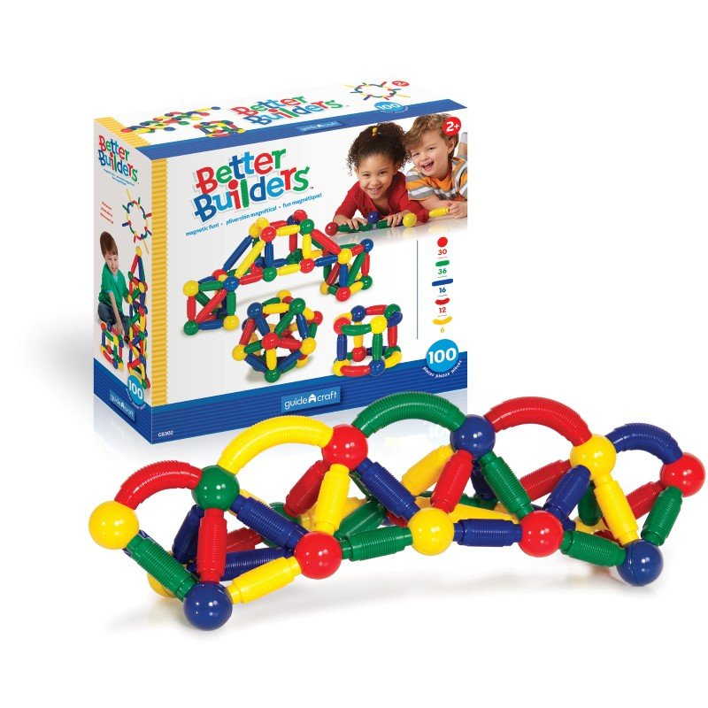 Guidecraft Better Builders 100 Piece Set