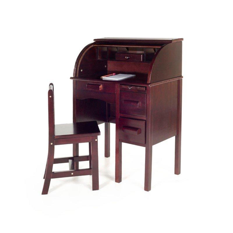 Guidecraft Jr. Roll-Top Desk in Espresso