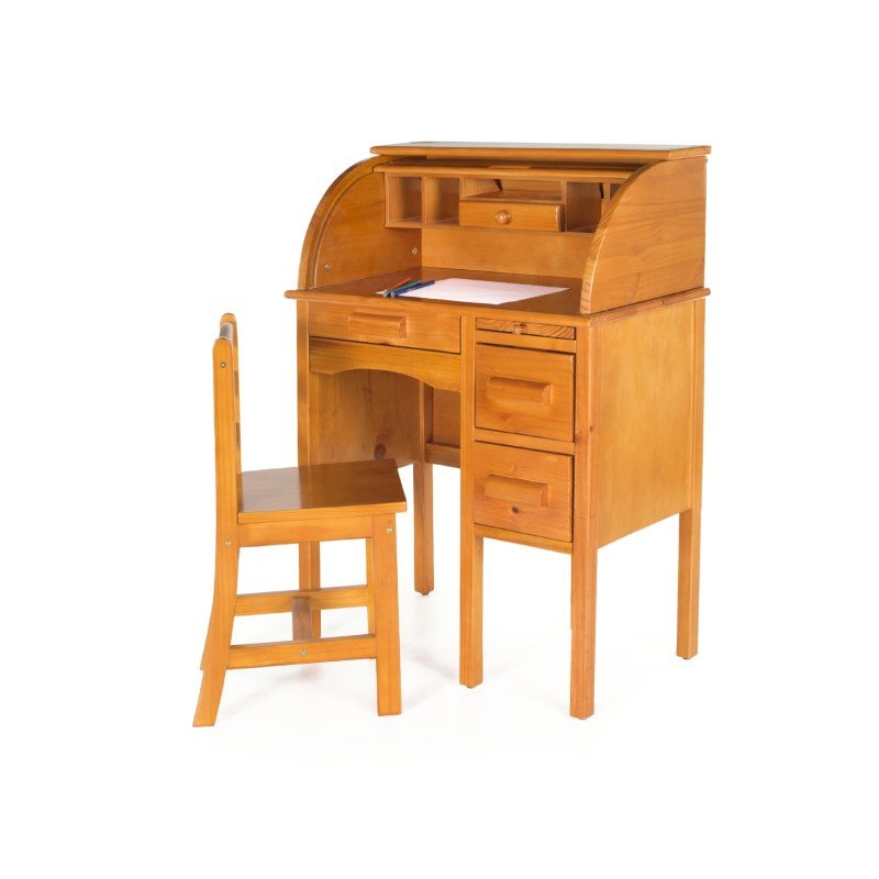 Guidecraft Jr. Roll-Top Desk in Light Oak