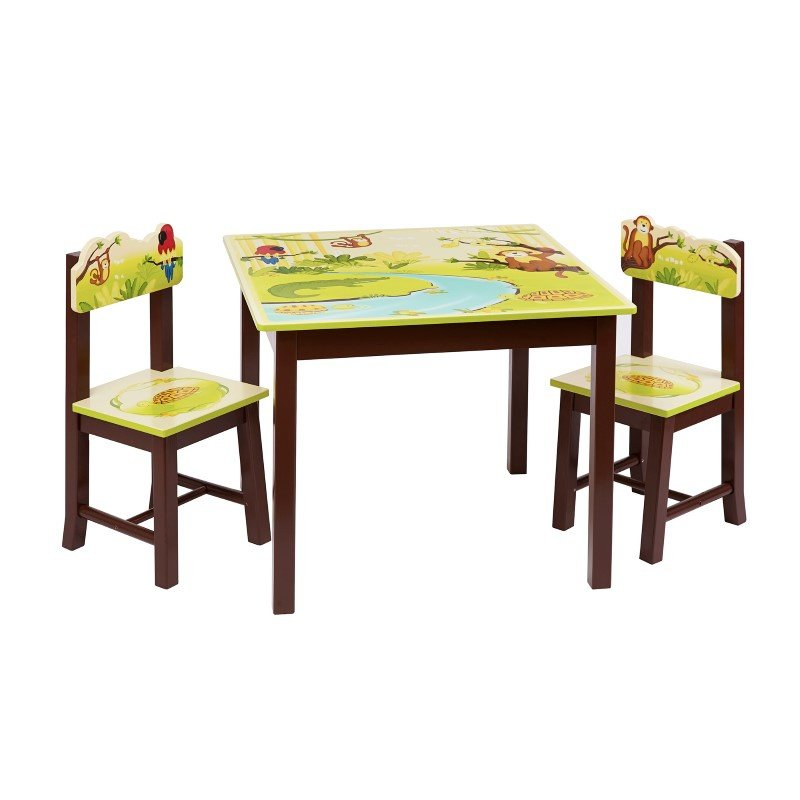 Guidecraft Jungle Party Table & Chair Set