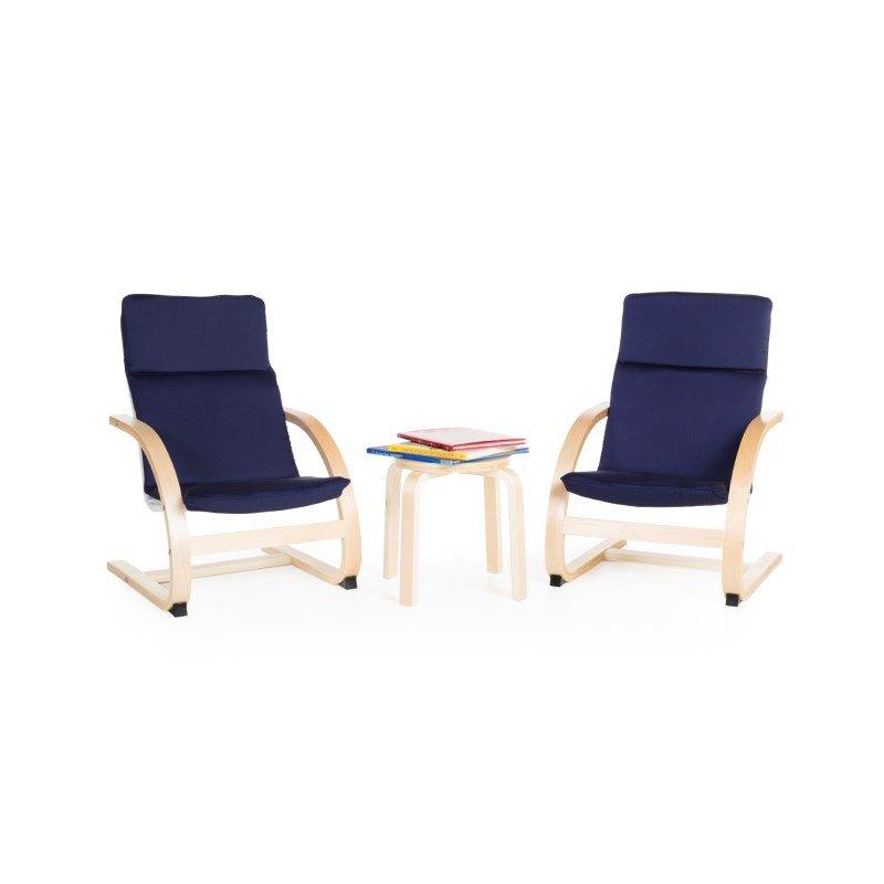 Guidecraft Kiddie Rocker Chair Set in Blue