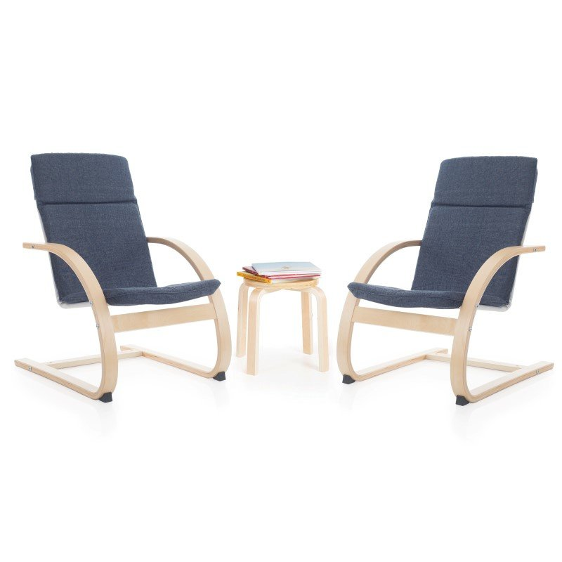 Guidecraft Kiddie Rocker Chair Set in Denim