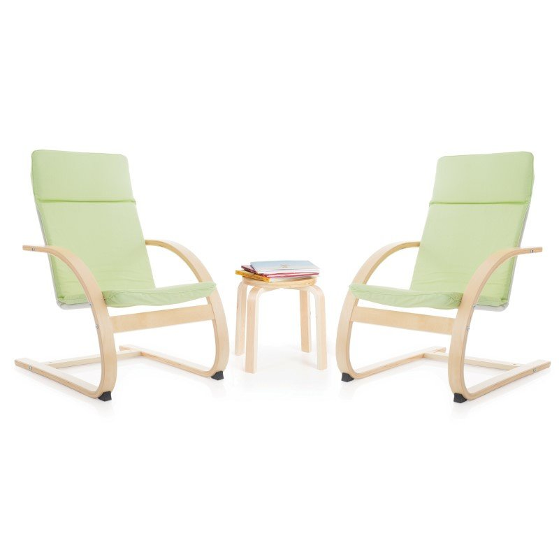 Guidecraft Kiddie Rocker Chair Set in Sage Green