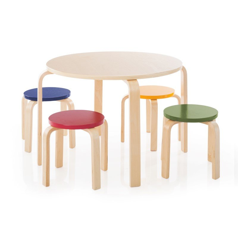 Guidecraft Nordic Table & Chairs in Multicolor