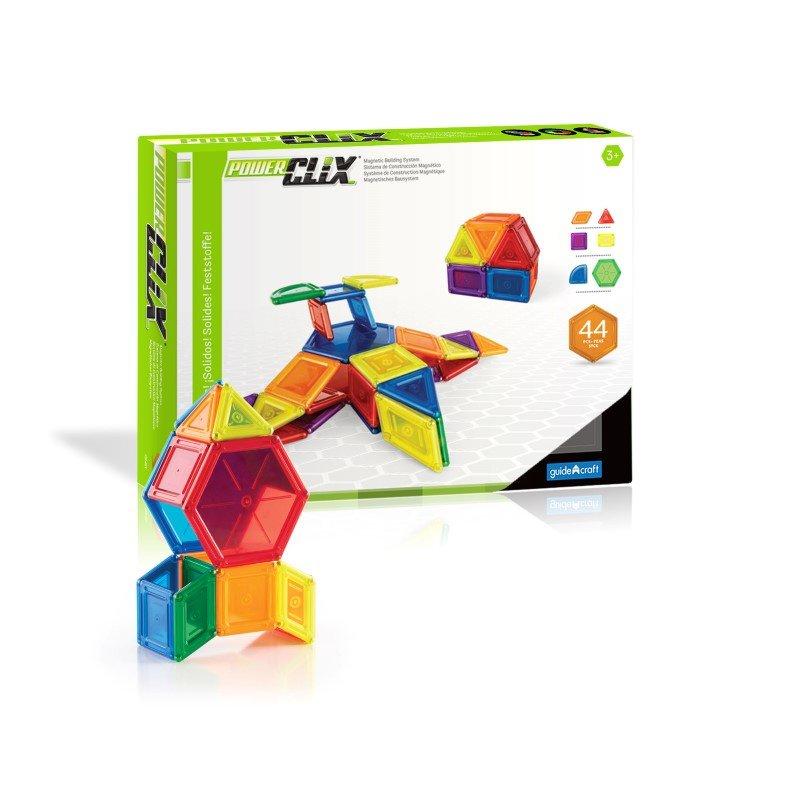 Guidecraft PowerClix Solids 44 Piece Set