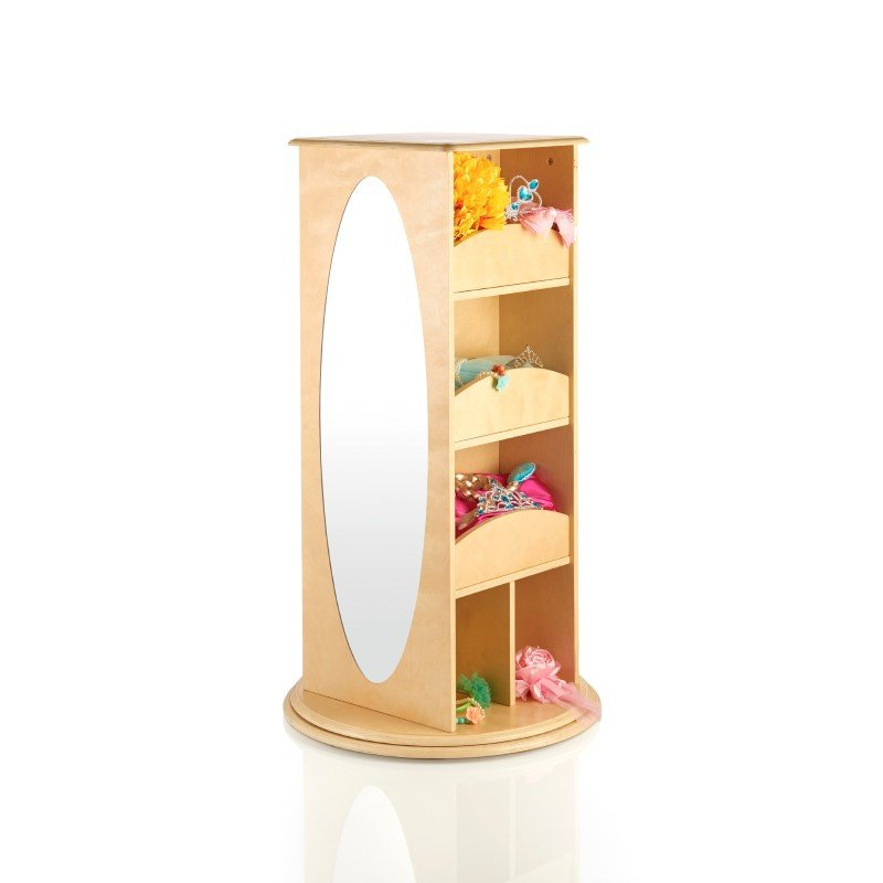 Guidecraft Rotating Dress-Up Storage in Natural