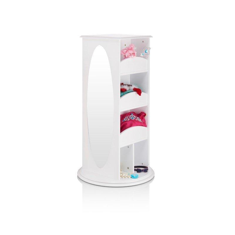 Guidecraft Rotating Dress-Up Storage in White