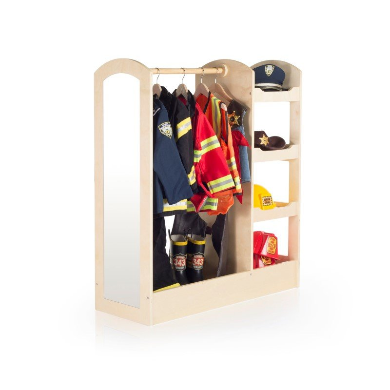 Guidecraft See and Store Dress-Up Center in Natural