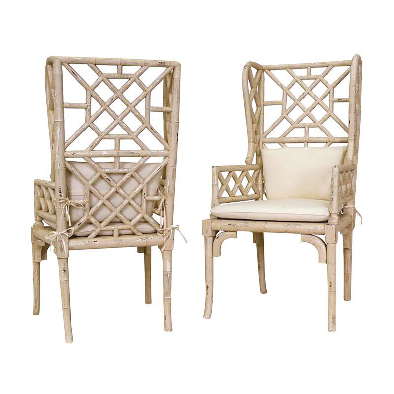 Guild Master Bamboo Wing Back Chair (657530PCR)