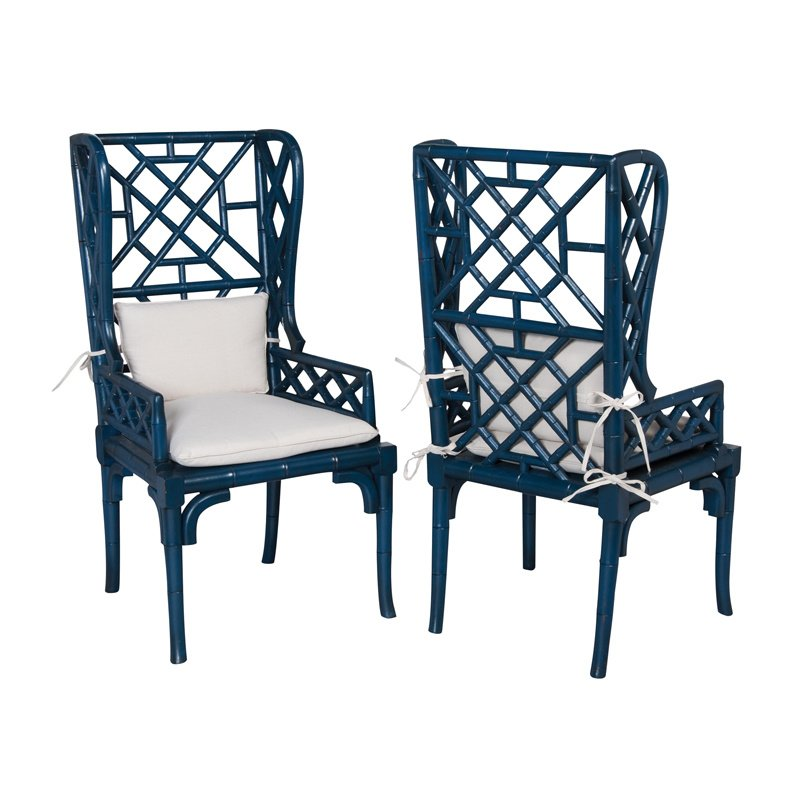 Guild Master Bamboo Wing Back Chair (694018P)