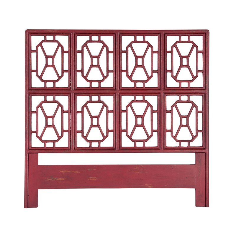 Guild Master Fretwork Headboard In Legacy Red (954005)