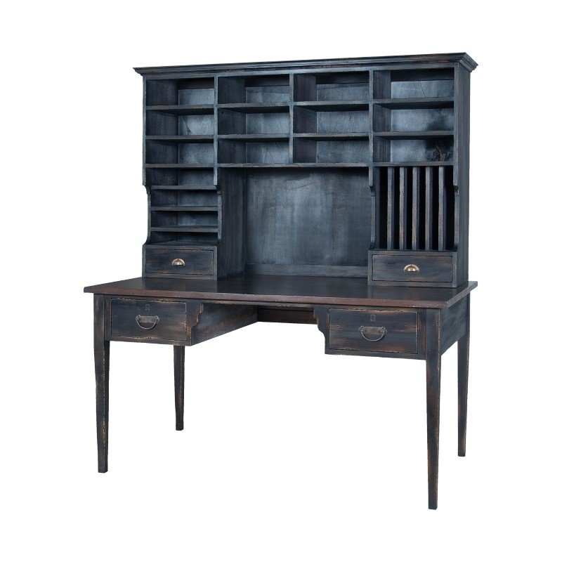 Guild Master Heritage Library Desk In Heritage Grey Stain (715058HG-1)