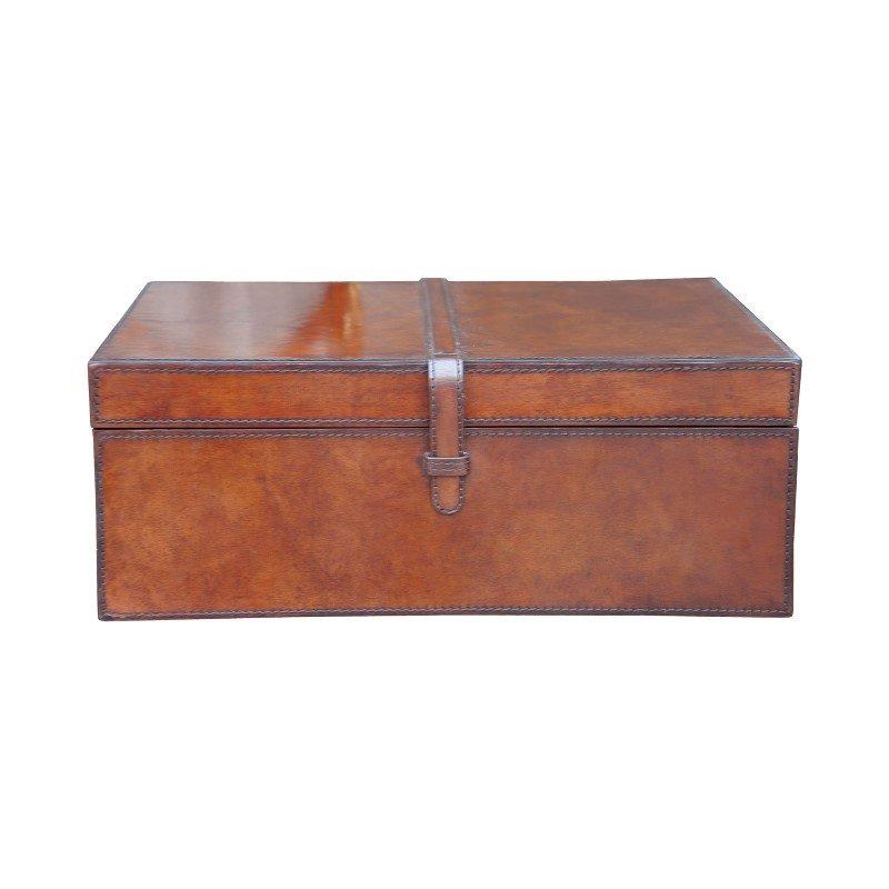 Guild Master Large Stitched Leather Box (8819-027)