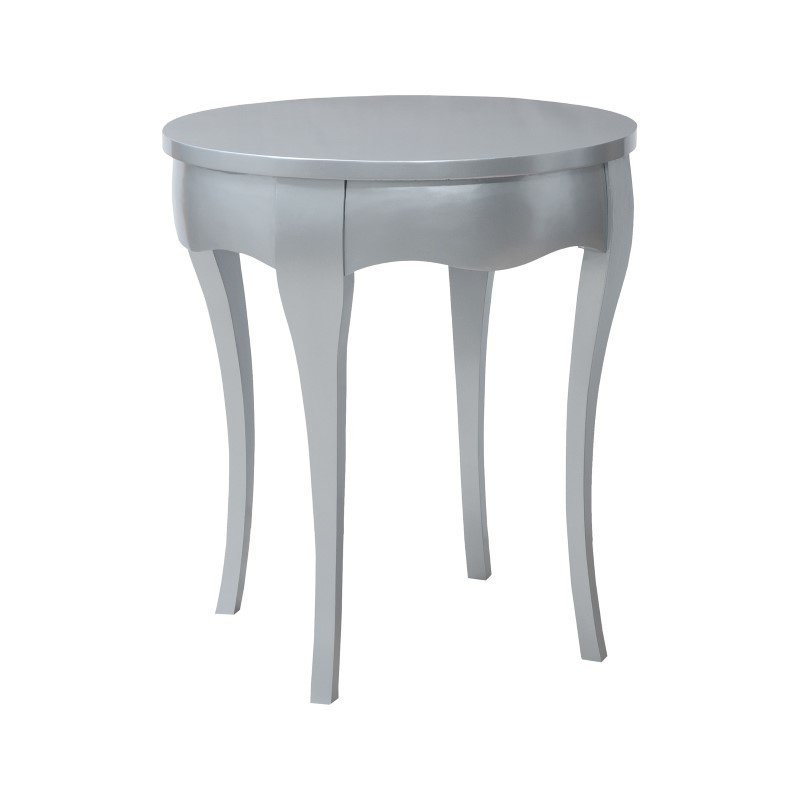 Guild Master Manor Accent Table In Antiqued Silver Leaf (7115523)