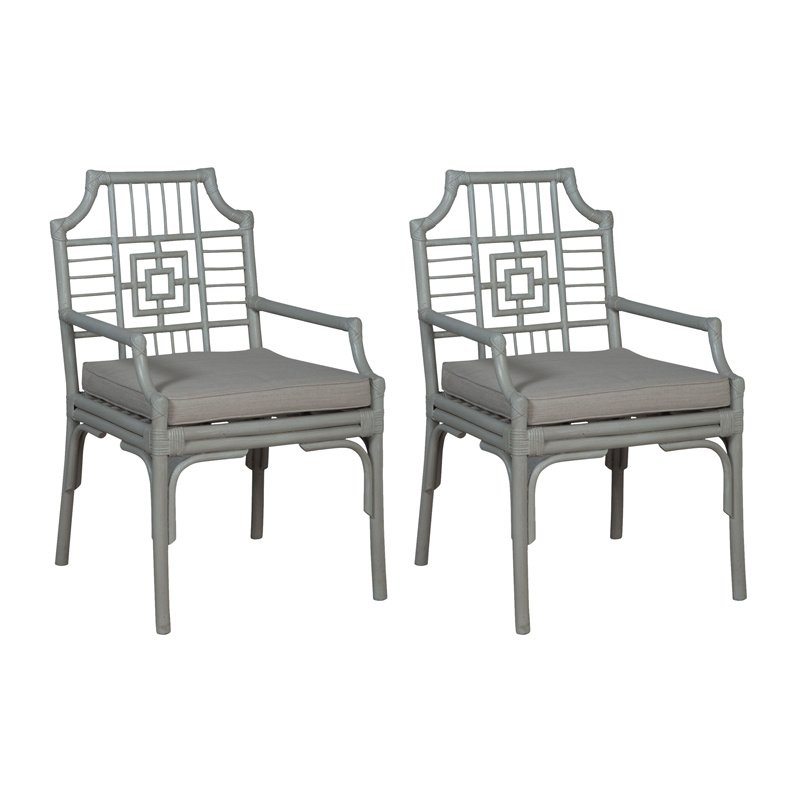 Guild Master Manor Rattan Arm Chair