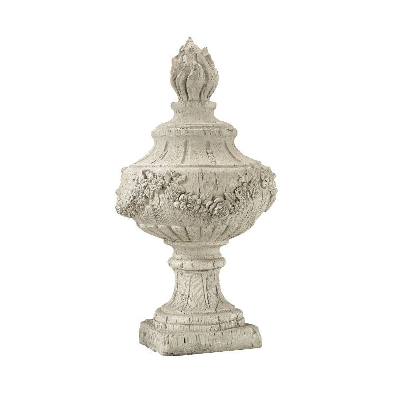 Guild Master Rouen Finial In Antique White (326-8695)