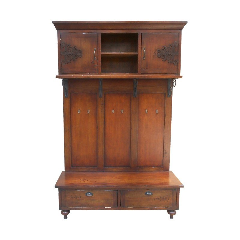 Guild Master Scrolled Iron Hall Cabinet